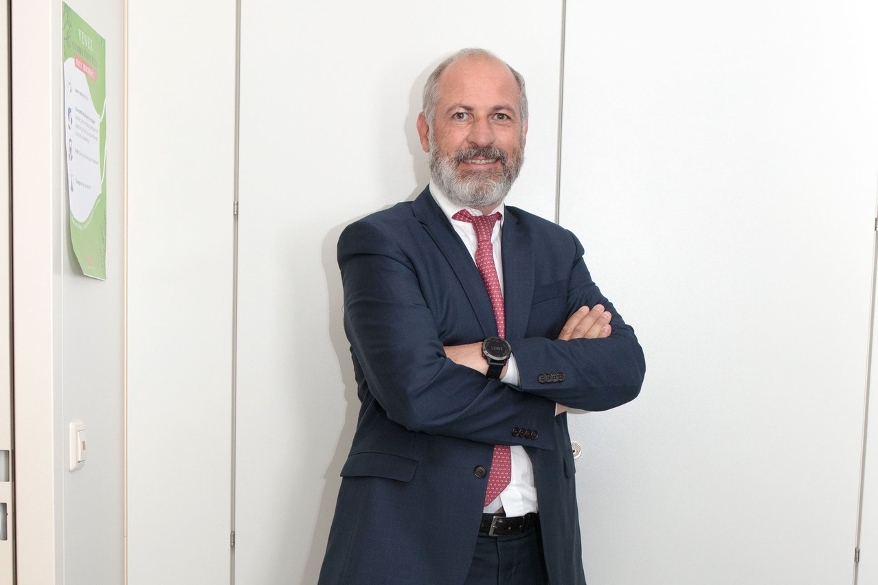 Fabien Vrignon est le CEO de Keytrade Bank Luxembourg depuis février 2019. (Photo: Matic Zorman/Maison Moderne)