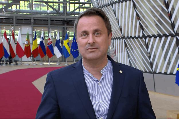 L'Europe est un projet de paix, souligne XavierBettel à son arrivée, dimanche, au siège du Conseil européen. (Photo: Capture d'écran)