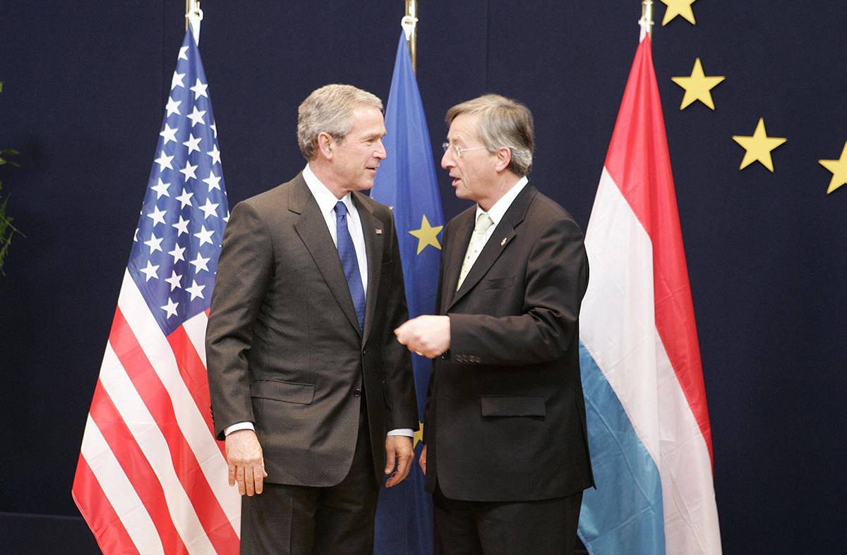 «J'ai eu des discussions très sérieuses et très professionnelles avec George Bush.» (Photo:European Communities, 2005)