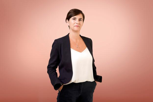 KarinePacary, directrice générale de Monterey Insight, dévoile les chiffres de sa dernière étude sur le Luxembourg pour Paperjam. (Photo: Jérémie Souteyrat)