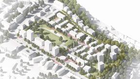 Le projet associe des espaces verts et des places publiques. ((Illustration: 2001/HHF))