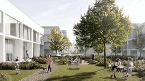 Vue des jardins habités ((Illustration: 2001/HHF))