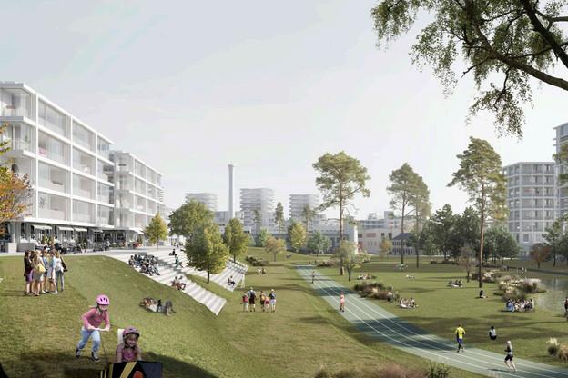 Le projet «Hortus Colossus» conserve la mémoire du stade. (Illustration: 2001/HHF)
