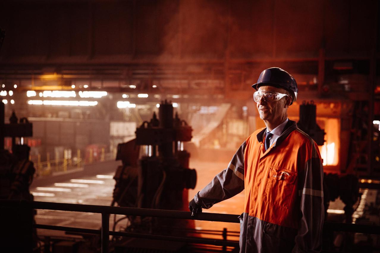 «Belval était l'une des plus grandes usines du monde en 1911», souligne Michel Wurth. Elle reste le plus important laminoir de palplanches en acier laminé à chaud au monde. Les pièces en acier de neuf mètres de long sont étirées jusqu'à 80 mètres. (Photo: Edouard Olszewski)