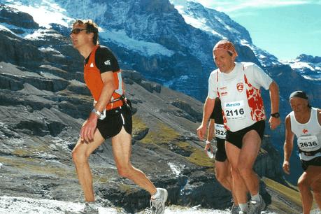 Jeff Oberweis (dossard 2116) lors du Jungfrau-Marathon, en septembre 2007. (Photo: DR)