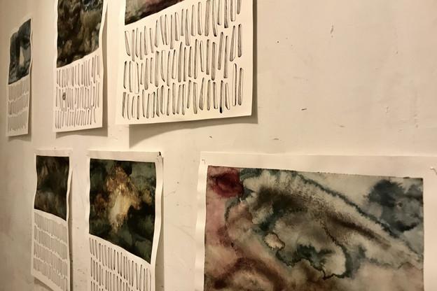 Les cellules commerciales fermées constituent des espaces de prédilection pour des initiatives artistiques à court terme. Ici, l'oeuvre de Tessy Bauer,  Okulus , 2016. (Photo: Maison Moderne)
