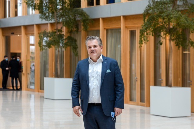PwC Luxembourg CEO John Parkhouse in the company's Cloche d'Or headquarters on 26 October. Romain Gamba