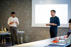 Ethan Schrieberg  et Pierre-Yves Lanneau Saint Léger (Vital Briefing) ((Photo: Patricia Pitsch / Maison Moderne))