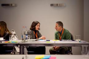Salvatore Genovese (Genoways), à droite ((Photo: Patricia Pitsch / Maison Moderne))