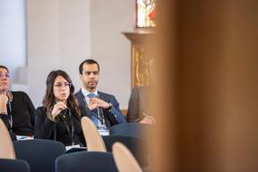 Aude Aifi (EMP CORP) et David Ahounou (Office Freylinger) ((Photo: Jan Hanrion / Maison Moderne))