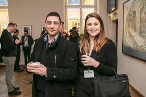 David Muller (DSK Systems) et Gaëlle Corne Lemaire  (Groupe Nuxe) ((Photo: Jan Hanrion / Maison Moderne))