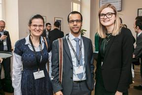 Mariana Ghibirsina,David Ahounou  et Marylin Lichtenberger (Office Freylinger) ((Photo: Jan Hanrion / Maison Moderne))