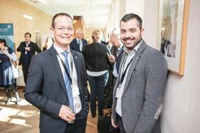 Olivier Laidebeur (Office Freylinger) et Davide Pizzicotti (Enjoint-Tridente) ((Photo: Jan Hanrion / Maison Moderne))