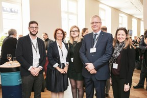 Romain Peter (Gip Development), Nathalie Cailteux , Marylin Lichtenberger, Pierre Kihn (Office Freylinger) et Nicole Gehlsen (Gip Development) ((Photo: Jan Hanrion / Maison Moderne))