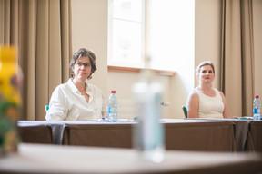 Cécile Schauer (Aimer Travailler) et Florence Pechon (Ineo Engineering) ((Photo: Simon Verjus/Maison Moderne))