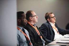 Thierry Ishimwe (Maltem Consutling Group), Christophe Verelst (Infos-com) et Thierry Bovier (Deloitte) ((Photo: Patricia Pitsch/Maison Moderne))