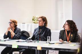Véronique Bono (RBC ITS), à gauche ((Photo: Patricia Pitsch/Maison Moderne))