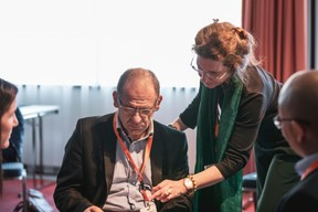 Christophe Verelst (Infos-com) et Isabelle Ferlin (IF Conseil) ((Photo: Patricia Pitsch/Maison Moderne))