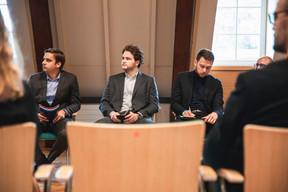 Clément Florio, Matthieu Charmeau et Théodore Brezillon (SCS Consulting) ((Photo: Simon Verjus/Maison Moderne))