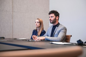 Justyna Ferlini (Lombard International Assurances) et Alex Roberto (Axhome Immo) ((Photo: Simon Verjus/Maison Moderne))