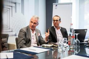 Fernando Pacheco et Jérôme Bouthors (JP Morgan) ((Photo: Jan Hanrion / Maison Moderne))