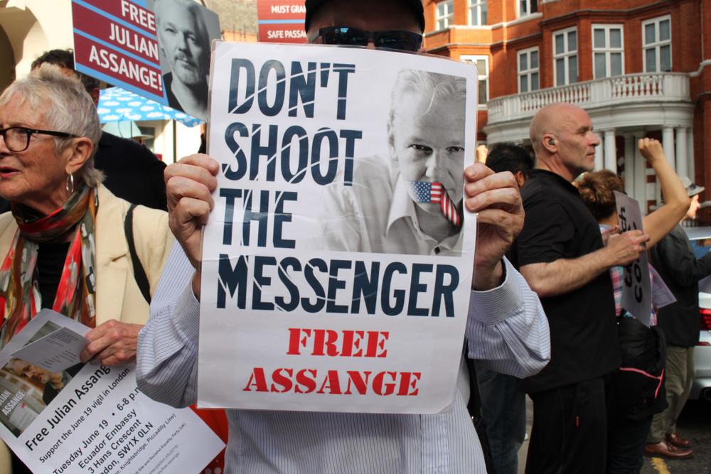 Julian Assange a été arrêté à Londres, jeudi dernier. (Photo: Shutterstock)