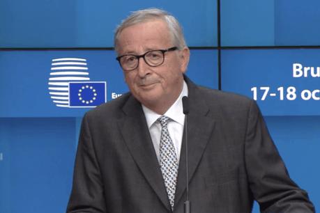 Jean-Claude Juncker regrettera visiblement aussi les échanges avec les journalistes. (Photo: Commission européenne/Capture d'écran)