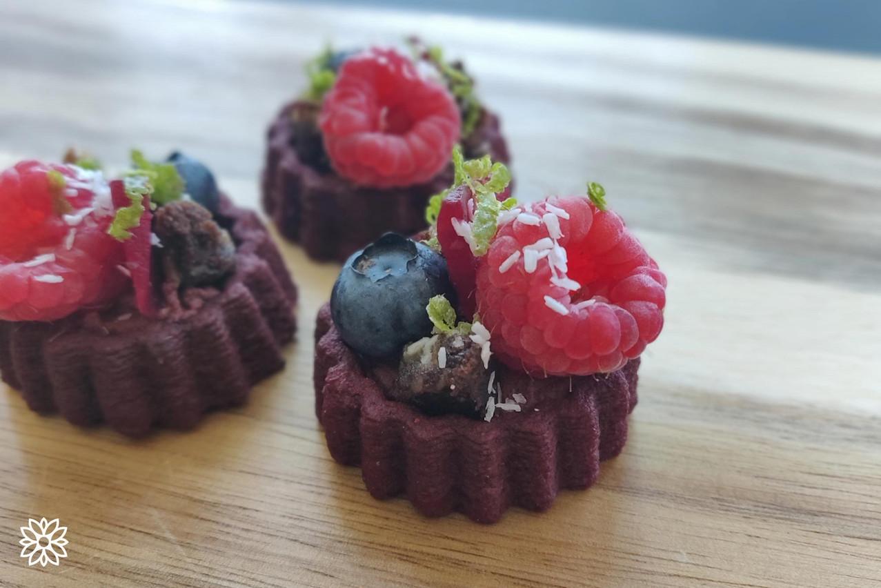 Upprinting Food crée des purées à partir de déchets alimentaires et en fait des formes en 3D, qui sont cuites au four et déshydratées. (Photo: Upprinting Food)