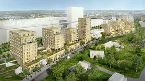 Le projet Kennedy Sud conjugue logements, espaces de rencontre et zones vertes. ((Illustration: Steinmetzdemeyer et LEVS Architecten))