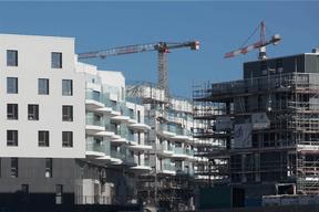Vue des logements conçus par Petitdidierprioux pour le lot2 au Kiem. ((Photo: Fonds Kirchberg))
