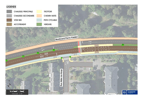 Une nouvelle voie de bus et une piste cyclable vont être ajoutées boulevard Pierre Frieden. ((Illustration: Fonds Kirchberg))