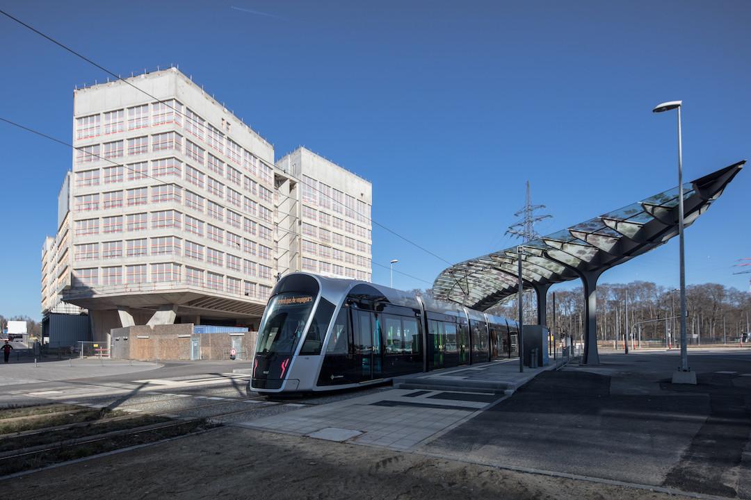 Le pôle d'échange Serra sera livré dans son ensemble pour le printemps 2020. (Photo: Fonds Kirchberg)