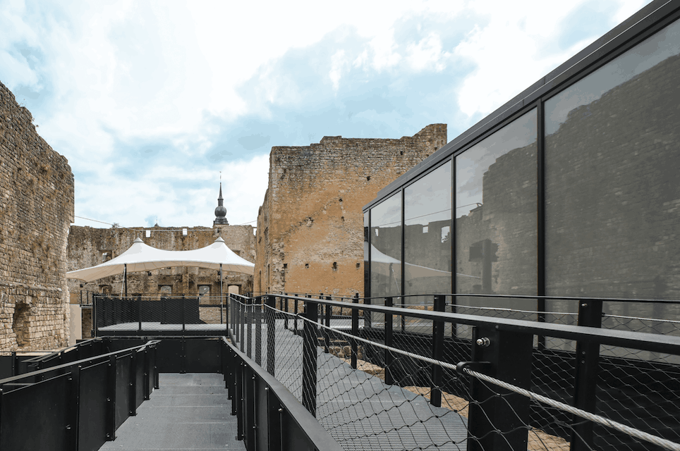 Glass and metal have been integrated into Koerich Castle to make it a place for culture and more. Boshua