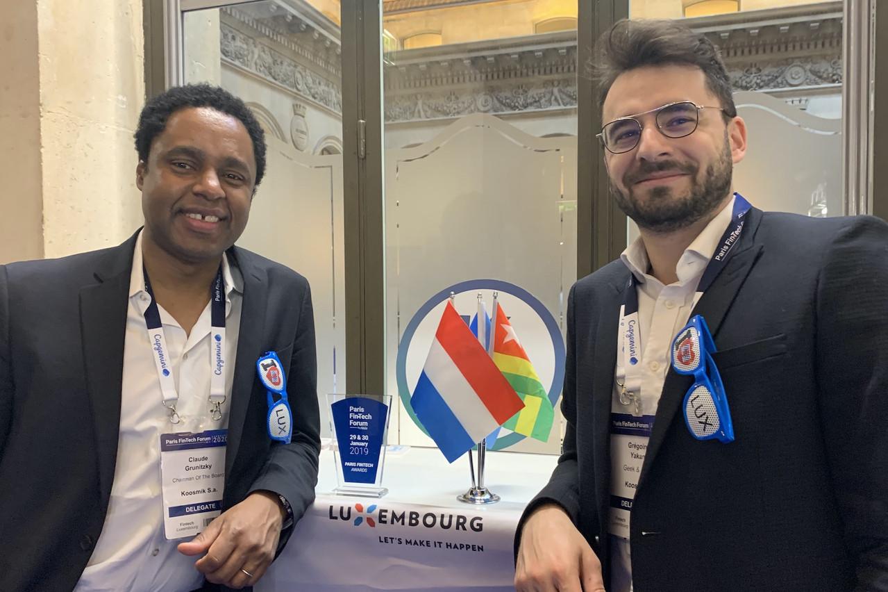 Claude Grunitzky et Grégoire Yakan, respectivement président du conseil d'administration et CEO de Koosmik, attendent leur licence bancaire pour voir leur comète véritablement décoller. (Photo: Paperjam)