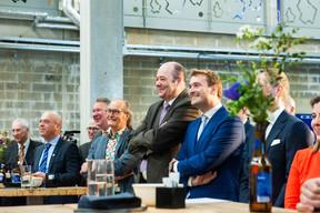 Bart Grieten (AB In Bev), Pierre Van Vynckt (Brasserie  de Luxembourg ), Claude Turmes (Ministre de l'Énergie), Claude Haagen (Député-Bourgmestre de Diekirch) et Gilles Nackaerts (Brasserie  de Luxembourg ) ((Photo: LaLa La Photo, Keven Erickson, Krystyna Dul))