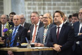 Bart Grieten (AB In Bev), Pierre Van Vynckt (Brasserie  de Luxembourg ), Claude Turmes (Ministre de l'Énergie) et Xavier Bettel (Premier ministre) ((Photo: Brasserie de Luxembourg))