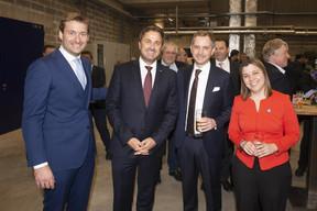 Gilles Nackaerts (Brasserie  de Luxembourg ), Xavier Bettel (Premier ministre), Fabio Edoardo Sala (AB In Bev) et Maria Rocha Barros (AB In Bev) ((Photo: Brasserie de Luxembourg))