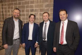 Georges Bock (Governance.com), Jean-Paul Olinger (UEL), André Bauler (Député) et René Winkin (Fedil) ((Photo: Brasserie de Luxembourg))