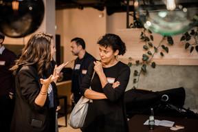 nexten.ioBrand Manager Anissa Lechaudel (left),nexten.ioCEO Eric Busch (background) (Caroline Lequeux)