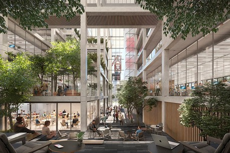 Icône est un nouvel immeuble de bureaux conçu par Foster + Partners en collaboration avec Beiler François Fritsch. (Illustration: Foster + Partners)
