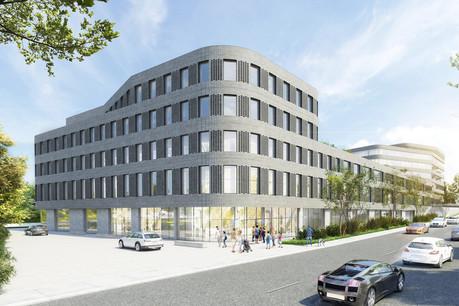 Ettelbruck One est développé parLandimmo Real Estate sur le site de l'ancienne usine de cigarettesHeintz van Landewyck. (Illustration: Beiler François Fritsch)