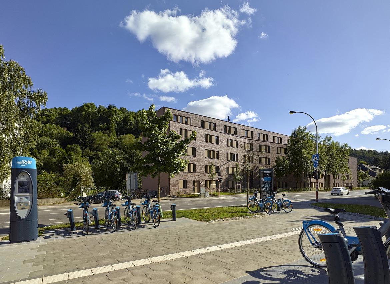Vue du logement social/intergénérationnel réalisé pour la Ville de Luxembourg. (Photo: Arlette Schneiders Architectes)
