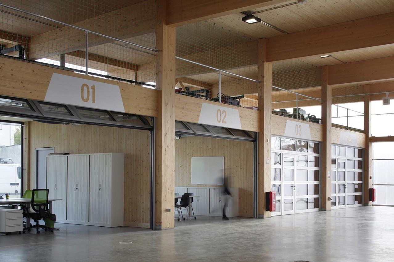 Intérieur de la Maison du (jeune) peuple à Differdange. (Photo: Maxime Delvaux)