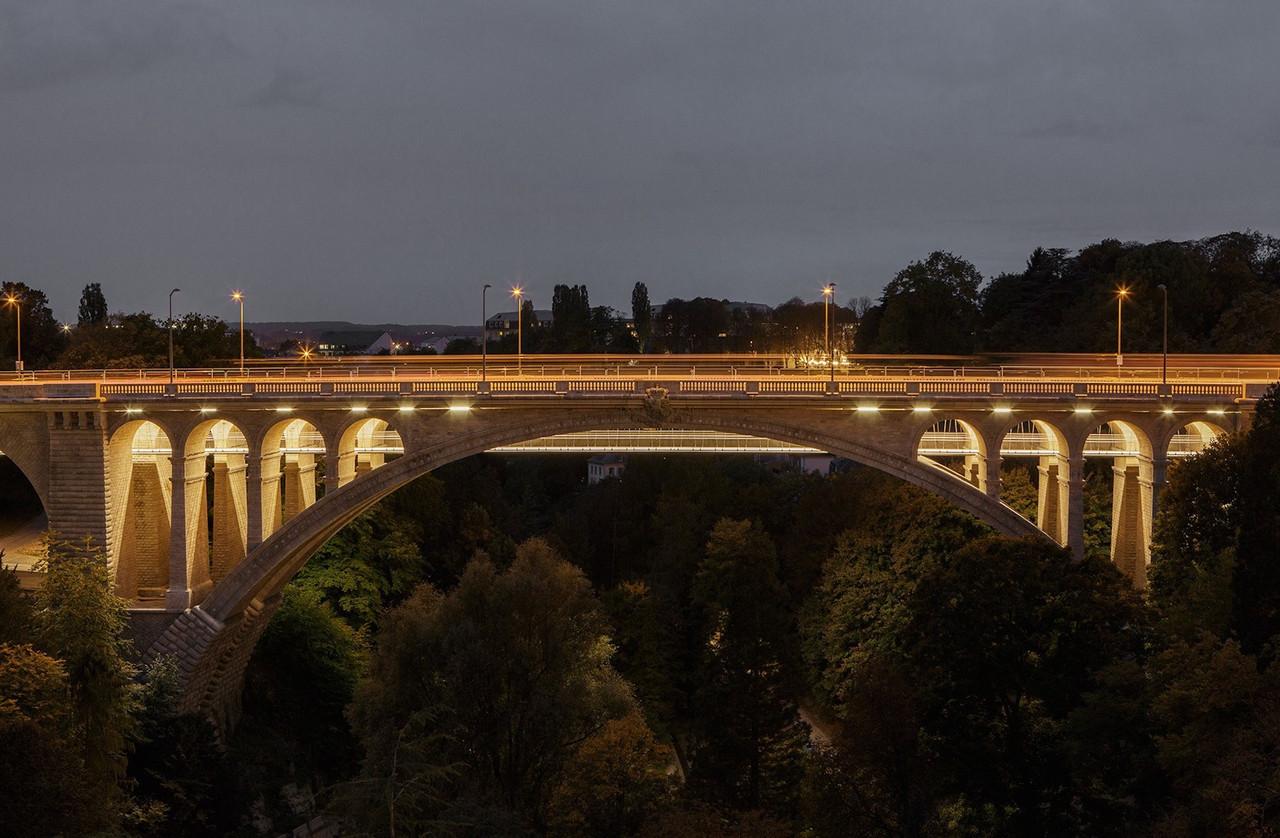 Vue de la passerelle du pont Adolphe. (Photo: CBA Christian Bauer & Associés Architectes)
