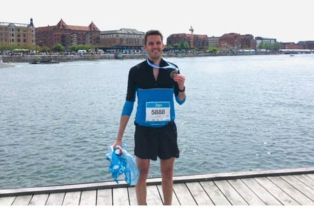 Laurent Decker au marathon de Copenhague en mai 2016. (Photo: DR)