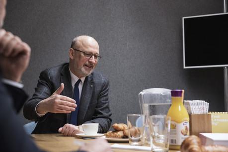 Le futur président du CES ne manie pas la langue de bois. Et n'épargne personne. (Photo: Jan Hanrion / Maison Moderne Publishing SA)
