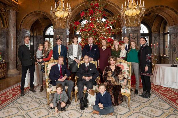 Le Grand-Duc Jean entouré de toute sa famille. (Photo: Cour Grand-Ducale / Archives)