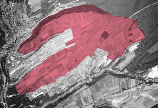 À l'origine, au Kirchberg, il y avait des champs. Fonds Kirchberg