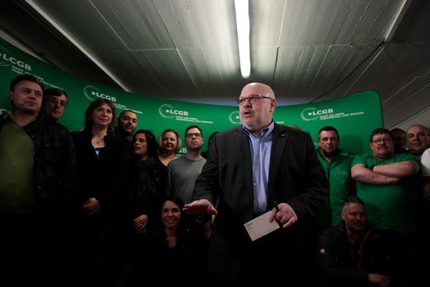 Patrick Dury, le président du LCGB, était prudent le soir des élections. Mais a ensuite très vite senti que le scrutin lui serait favorable. (Photo: Matic Zorman)