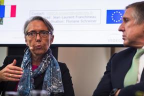 Élisabeth Borne (ministre française chargée des Transports) et François Bausch (ministre de la Mobilité et des Travaux publics) ((Photo: Nader Ghavami))